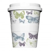Porzellan Coffee to go Butterfly green