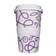 Porzellan Coffee to go Curling purple