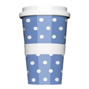Porzellan Coffee to go Polkadots Blue