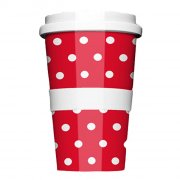 Porzellan Coffee to go Polkadots Red