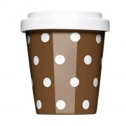 Porzellan Coffee to go Polkadots brown