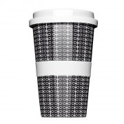 Porzellan Coffee to go Ribbon Black