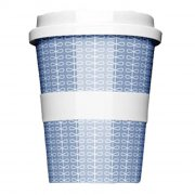 Porzellan Coffee to go Ribbon Blue