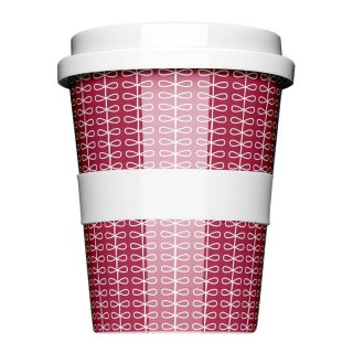 Porzellan Coffee to go Ribbon Red