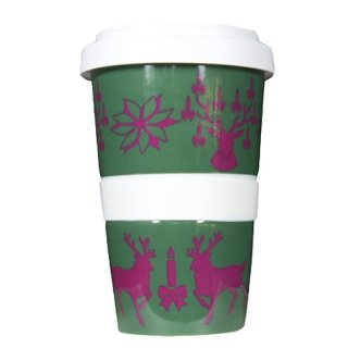 Porzellan Coffee to go Rudolph red