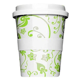 Porzellan Coffee to go Springflower Green